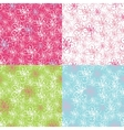 Outline Cherry Flowers backgroundSpring Seamless
