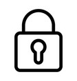 padlock icon symbol of security and secret vector image