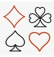 Playing card symbols in modern style vector image vector image