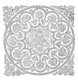 quilt is used as a bed covering vintage engraving vector image vector image