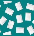 realistic detailed 3d white disposable foil sachet vector image vector image