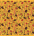Seamless pattern wind blow flowers isolated on