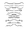 set decorative calligraphic elements vector image