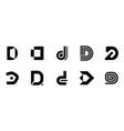 set of letter d logo vector image