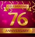 seventy six years anniversary celebration design vector image vector image