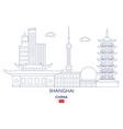 shanghai city skyline vector image vector image