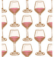 Sketch vine glass in vintage style vector image vector image