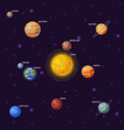 solar system planets earth saturn mercury vector image