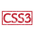 stamp text css3 vector image vector image
