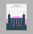 tower of london uk vintage style landmark poster vector image vector image
