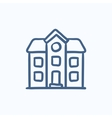 Two storey detached house sketch icon vector image vector image