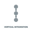 vertical integration icon thin line style vector image vector image