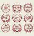 vintage badges collection 2 vector image