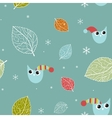 Vintage seamless background with birds vector image vector image