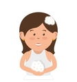 wife character with married suit vector image vector image