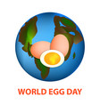 world egg day 12 october planet earth and eggs vector image vector image