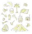Camping set vector image
