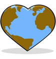 Love the Earth vector image