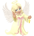 beautiful angel girl vector image
