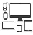 Set of Silhouette Devices vector image