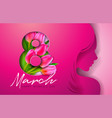 8 march womens day greeting card design with