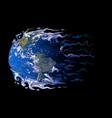 abstract earth dissolving melting and warping vector image