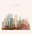 albany state new york skyline vector image vector image