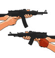 assault rifle small arm machine gun shotgun vector image