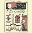 banner on a coffee theme with girl and street cafe vector image vector image