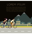 Bicycle trip banner vector image vector image