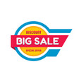 big sale - banner template concept vector image vector image