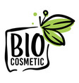 bio cosmetic organic production for body and skin vector image