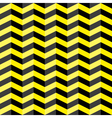 Black and yellow chevron seamless pattern vector image vector image