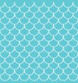 blue sea and white flat style mermaid tail pattern vector image