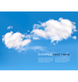 Blue sky with clouds vector | Price: 1 Credit (USD $1)