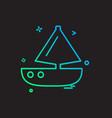 boat icon design vector image vector image