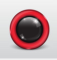 button web glossy red and black vector image vector image