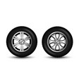 car wheel tire 4x4 side view tractor tyre vector image