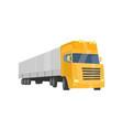 cargo trailer truck cargo shipping and vector image