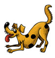 cartoon image of happy dog vector image vector image