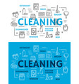 cleaning equipment for housework line art posters vector image vector image