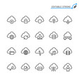 cloud computing line icons editable stroke vector image vector image