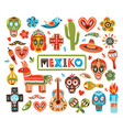 collection mexican national attributes isolated vector image