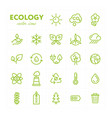 colorful ecological icons in set vector image vector image
