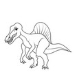 coloring book spinosaurus dinosaur vector image vector image