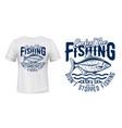 crucian fish t-shirt print fishing sport vector image