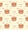 cute bear tribal boho seamless pattern background vector image