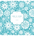 decorative frost Christmas snowflake silhouette vector image vector image