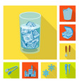 design of texture and frozen symbol vector image vector image