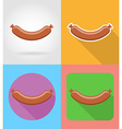 fast food flat icons 09 vector image vector image